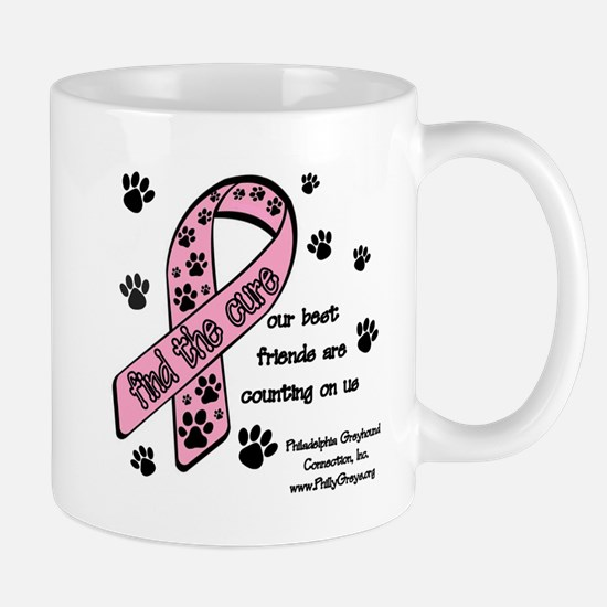 Cure w friends paw prints extra large Mugs