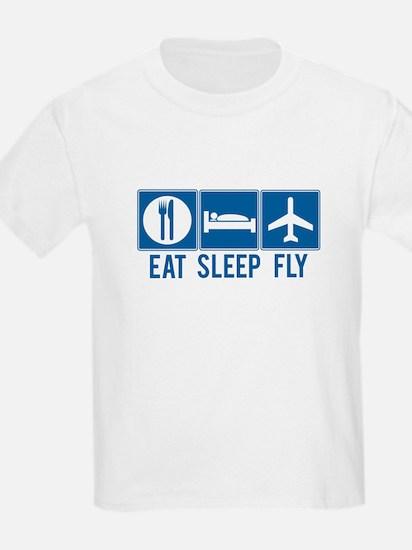 Eat Sleep Fly Kids Shirt