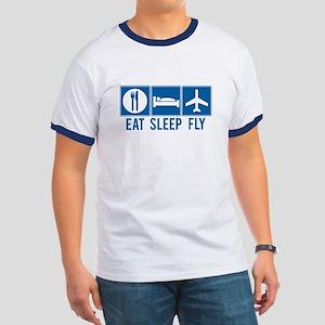 Eat Sleep Fly Ringer Tee