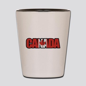 Canada Word Shot Glass