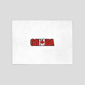 Canada Word 5'x7'Area Rug