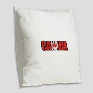 Canada Word Burlap Throw Pillow