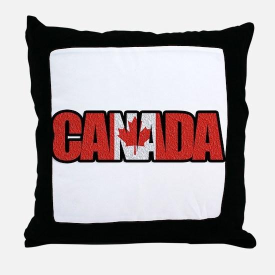 Canada Word Throw Pillow