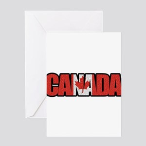 Canada Word Greeting Cards