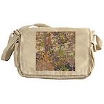 Nature's Floral Arrangement Messenger Bag