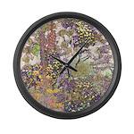 Nature's Floral Arrangement Large Wall Clock