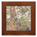 Nature's Floral Arrangement Framed Tile