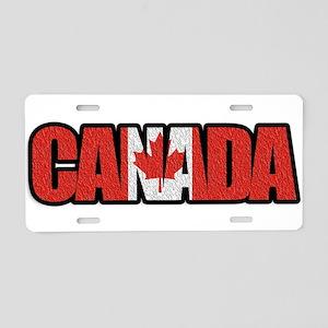 Canada Word Aluminum License Plate