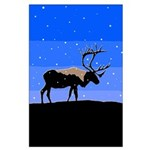 Winter Caribou Large Poster