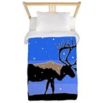 Winter Caribou Twin Duvet Cover