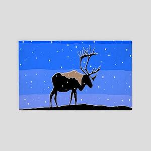 Winter Caribou Area Rug
