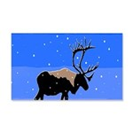 Winter Caribou 20x12 Wall Decal