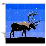Winter Caribou Shower Curtain
