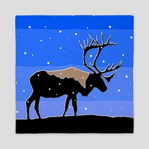 Winter Caribou Queen Duvet