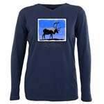 Winter Caribou Plus Size Long Sleeve Tee