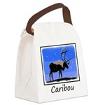 Winter Caribou Canvas Lunch Bag