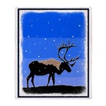 Winter Caribou Throw Blanket