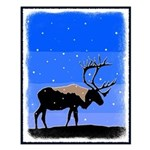 Winter Caribou Small Poster
