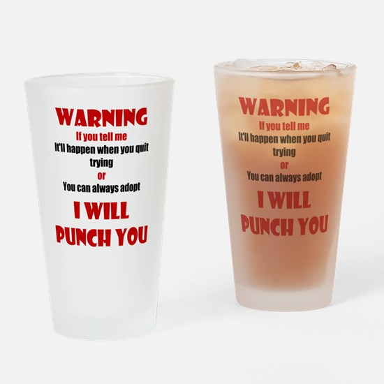 I Will Punch You Drinking Glass