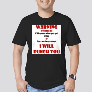 I Will Punch You Men's Fitted T-Shirt (dark)