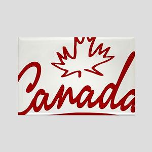 Canada Leaf Script Rectangle Magnet