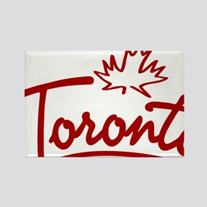 Toronto Leaf Script Rectangle Magnet