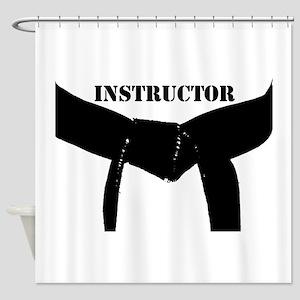 Martial Arts Black Belt Instructor Shower Curtain