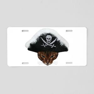 Pirate Bengal Cat Aluminum License Plate