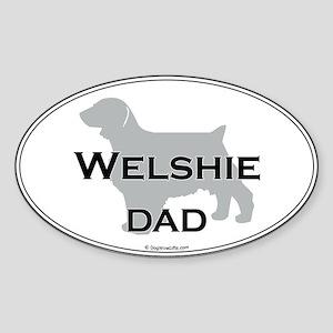 Welshie DAD Oval Sticker