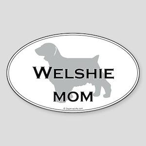 Welshie MOM Oval Sticker