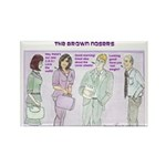 Brown Nosers Rectangle Magnet (10 pack)