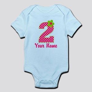 2nd Birthday Pink and Green Infant Bodysuit