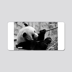 Black and White Panda Aluminum License Plate