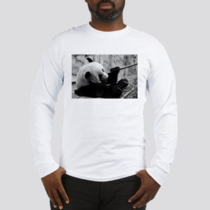 Black and White Panda Long Sleeve T-Shirt