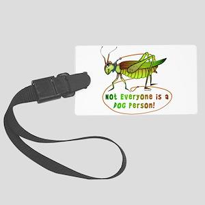 Grasshopper_on_WHITE Large Luggage Tag