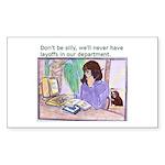 No Layoffs Sticker (Rectangle 10 pk)