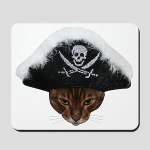 Pirate Bengal Cat Mousepad