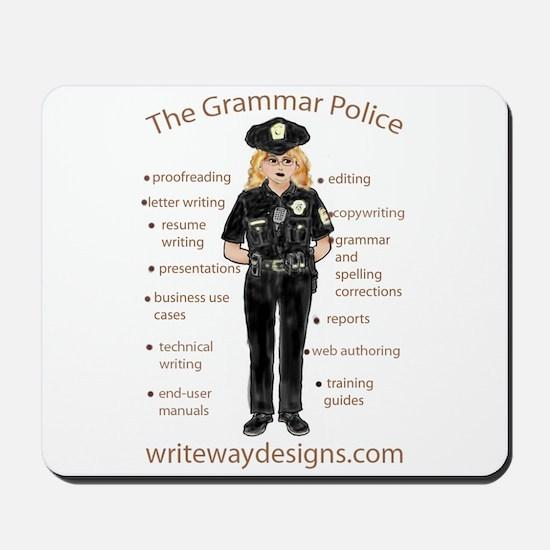 Grammar Police Mousepad