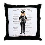 Grammar Police Throw Pillow