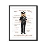 Grammar Police Framed Panel Print
