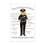 Grammar Police Mini Poster Print