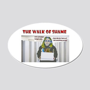 The Walk of Shame 20x12 Oval Wall Decal