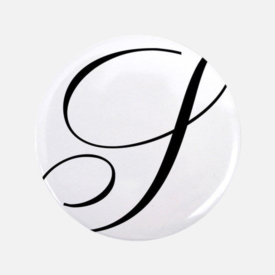 """S Initial Black and White Sript 3.5"""" Button (100 p"""