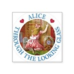 Alice Through The Looking Glass Square Sticker 3