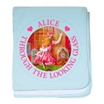 Alice Through The Looking Glass baby blanket