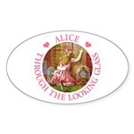 Alice Through The Looking Glass Sticker (Oval)