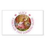 Alice Through The Looking Glass Sticker (Rectangle