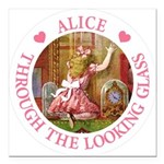Alice Through The Looking Glass Square Car Magnet