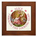 Alice Through The Looking Glass Framed Tile