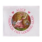 Alice Through The Looking Glass Throw Blanket